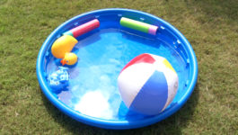 B-Roll Inflatable or Temporary Pools